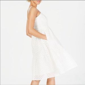 Vince Camuto Ivy Eyelet Sun dress Size 14 NWT